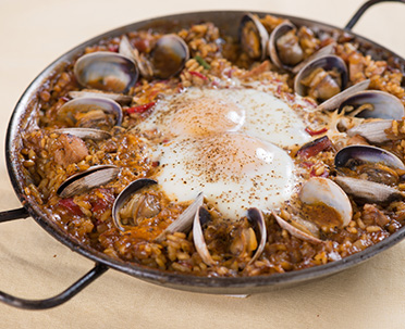 Egg Paella Features Icon