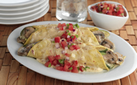 mushroom-vegetable-enchildadas