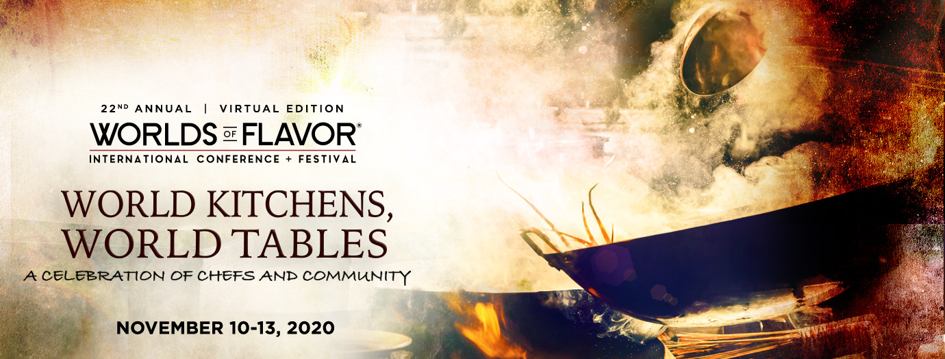2020 Worlds of Flavor Conference Banner